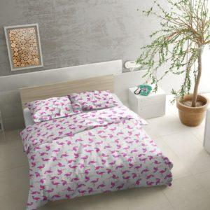 """Pościel bawełniana 160x200 """"Flamingi"""" w aranżacji firmy TuliSen,"""