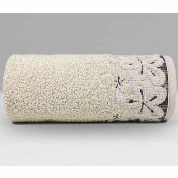 Beżowy ręcznik Bella firmy Greno.