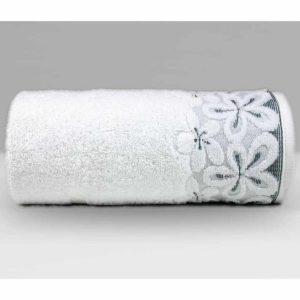 Biały ręcznik Bella firmy Greno.