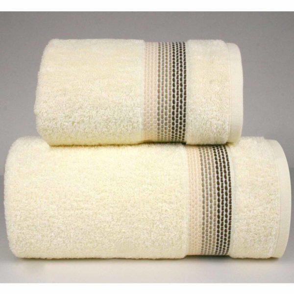 Kremowy ręcznik Ombre firmy Greno.