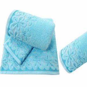 Lazurowy komplet ręczników Bella firmy Greno