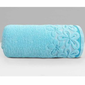 Lazurowy ręcznik Bella firmy Greno.