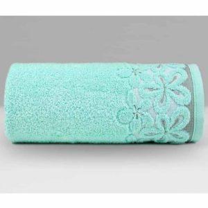 Miętowy ręcznik Bella firmy TuliSen.