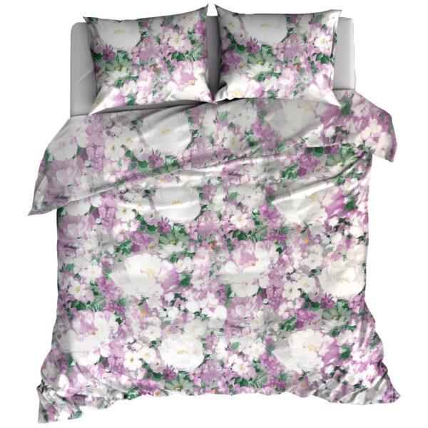 Pościel flanelowa 160x200 Pastelowa kwiaty od TuliSen