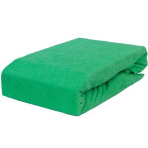 Prześcieradło frotte z gumką zieleń trawy firmy TuliSen.