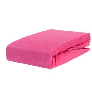 Prześcieradło frotte z gumką różowe firmy TuliSen.