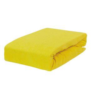 Prześcieradło frotte z gumką żółte cytrynowe firmy TuliSen.