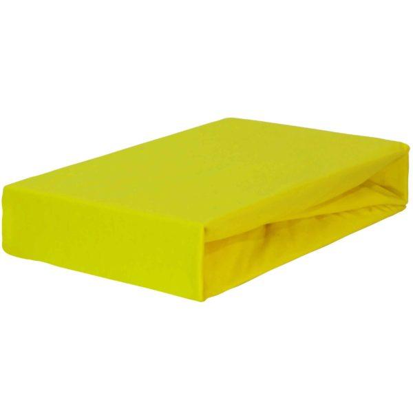 Prześcieradło jersey z gumką żółte firmy TuliSen.