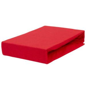 Prześcieradło jersey z gumką czerwone firmy TuliSen.