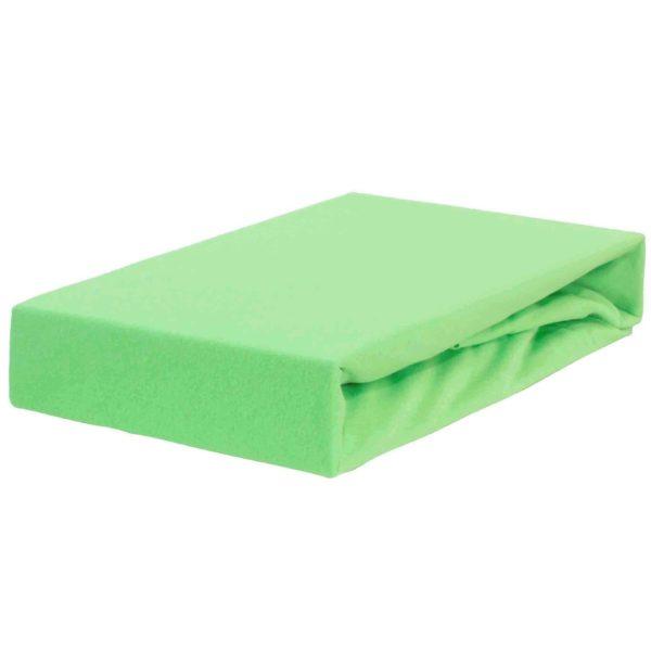 Prześcieradło jersey z gumką w kolorze jaskrawej zieleni.