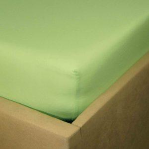 Jaskrawo zielone prześcieradło jersey z gumką.