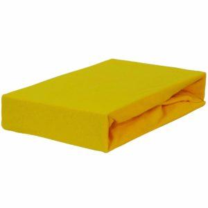 Prześcieradło jersey z gumką żółte kanarkowe firmy TuliSen.