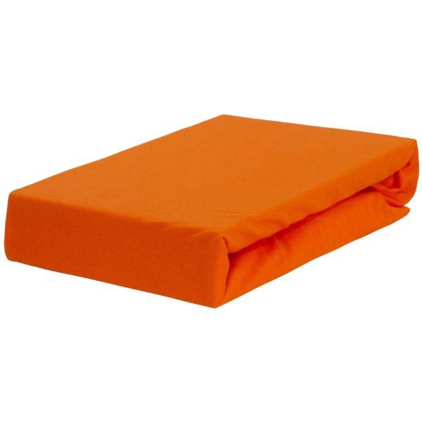 Prześcieradło jesrey z gumką pomarańczowe firmy TuliSen.