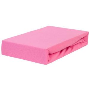 Prześcieradło jersey z gumką różowe firmy TuliSen.