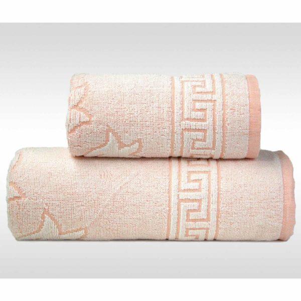 Brzoskwiniowy ręcznik Flora Ocean od Gerno.
