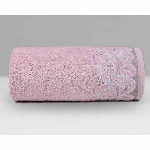 Różowy ręcznik Bella firmy Greno.