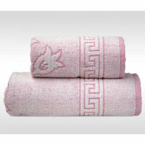 Różowy ręcznik Flora Ocena firmy Greno.
