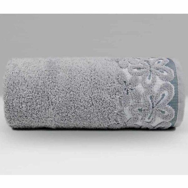 Szary ręcznik bella firmy Greno.