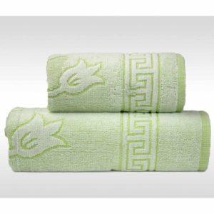Zielony ręcznik Flora Ocean od firmy Greno.