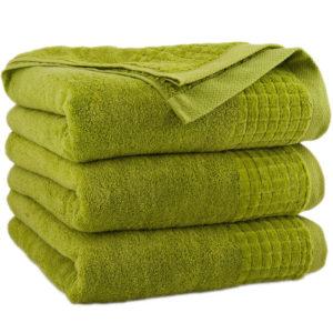 Zielony ręcznik Paulo firmy Zwoltex.
