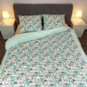 Koty miętowe na łóżku od TuliSen