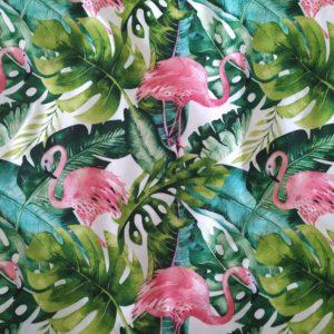Szczegółowe zdjęcie wzoru Flamingi w liściach od TuliSen