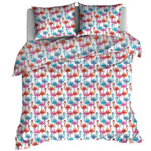 Pościel bawełniana 160x200 Flamingi od TuliSen