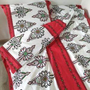 Pościel bawełniana 160x200 Czerwona Parzenica od TuliSen