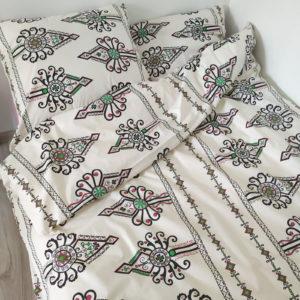 Pościel bawełniana 160x200 Kremowa Parzenica od TuliSen