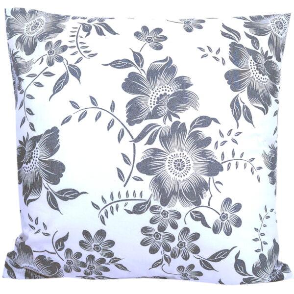 Poszewka bawełniana Szare kwiaty od TuliSen