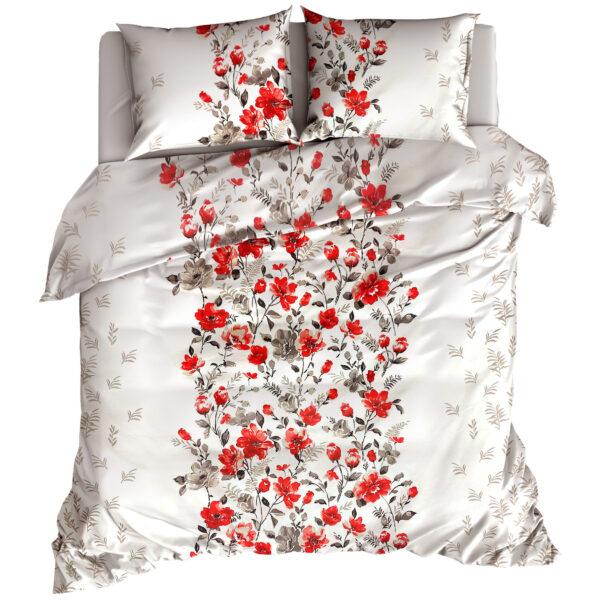 Pościel flanelowa Malowane kwiaty czerwone od TuliSen